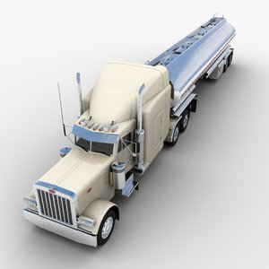 tank semi-trailer truck v2 3D