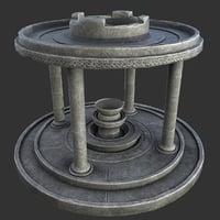 ancient altar 3D model