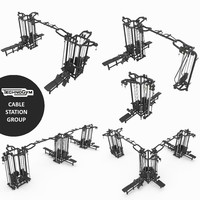 Cable Station Technogym collection, 5 models crossover gym