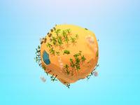 sand planet 3D model