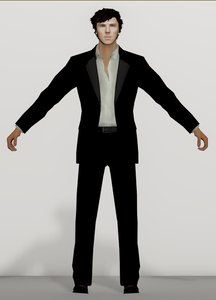 sherlock benedict cumberbatch - 3D