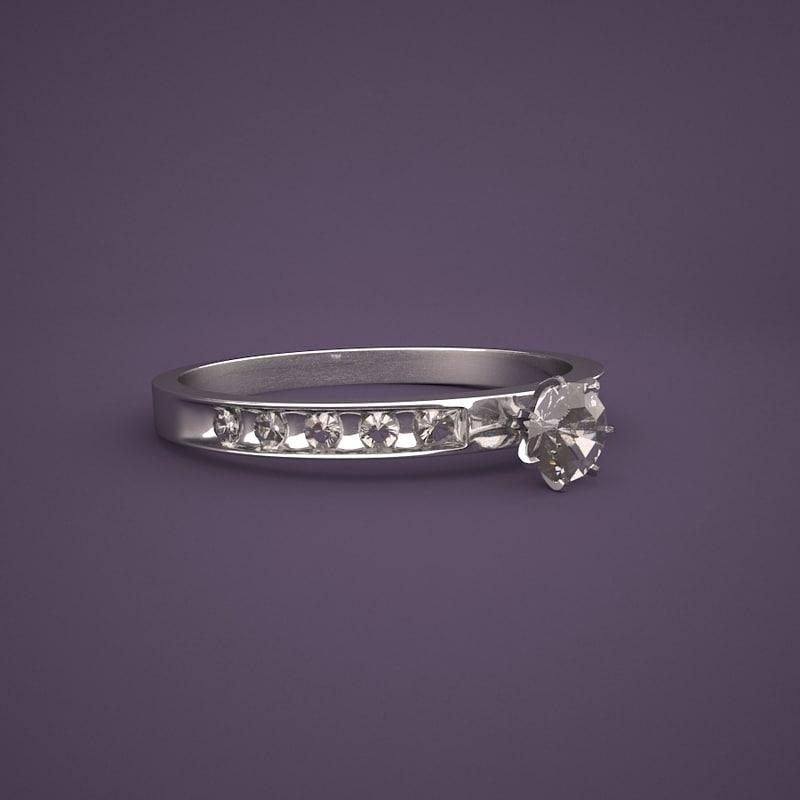 3D model whit gold ring