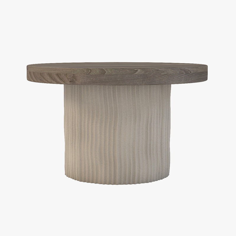 3D theodore sculptural dining table