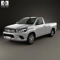 3D toyota hilux single model