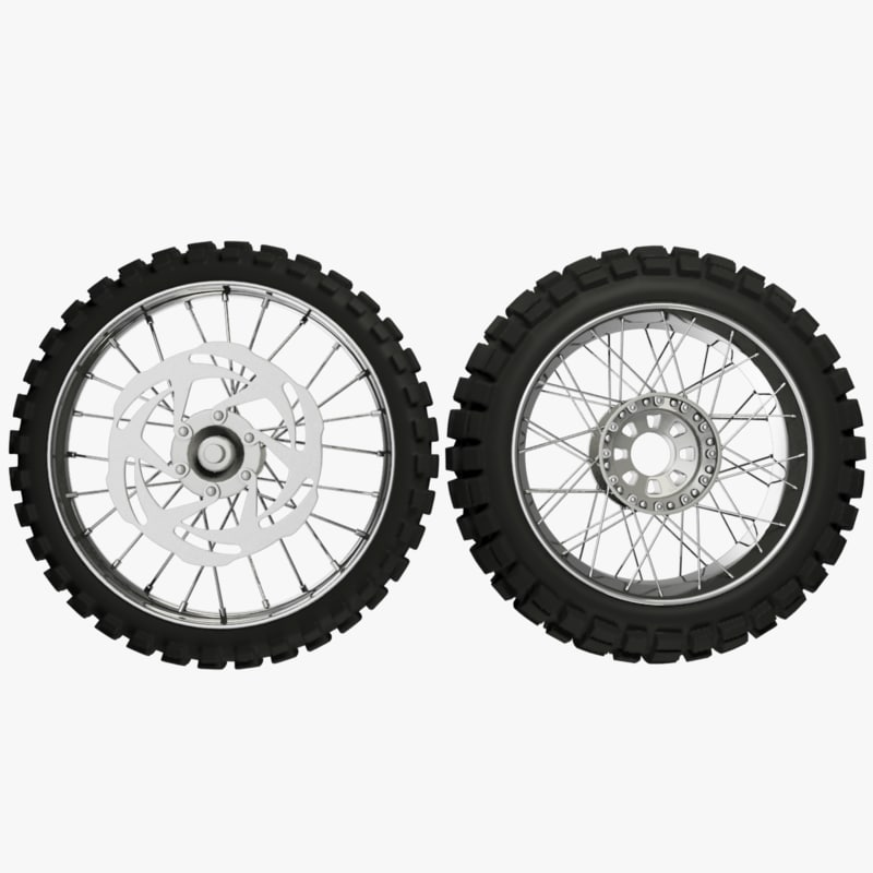 3D model motorcycle wheels