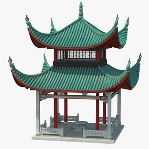 chinese pagoda 02 3D model