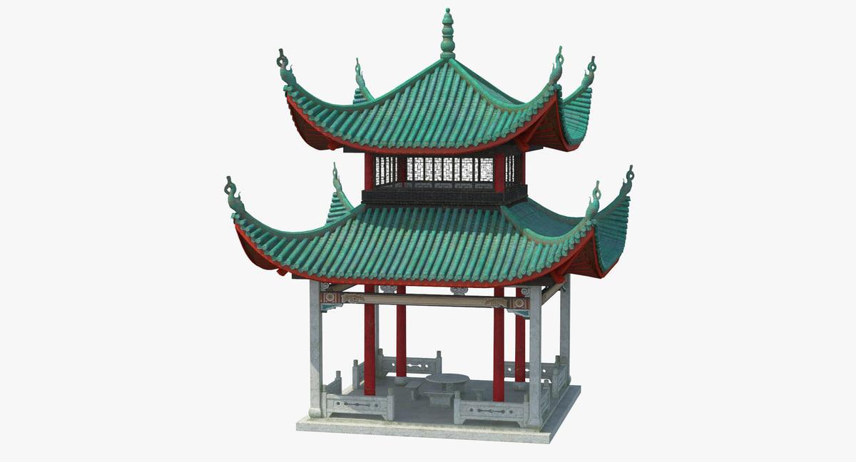 chinese pagoda 02 3D model