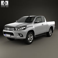 toyota hilux extra 3D model
