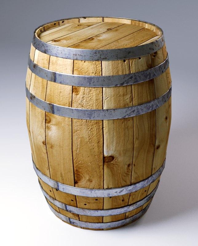 3D model realistic barrel