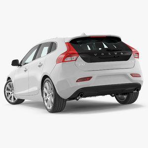 3D model v40 hatchback simple interior