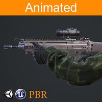 3D fps hands fn-scar