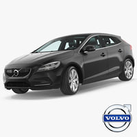 v40 hatchback rigged 3D model