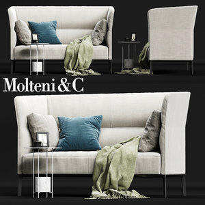 molteni c camden backrest 3D model