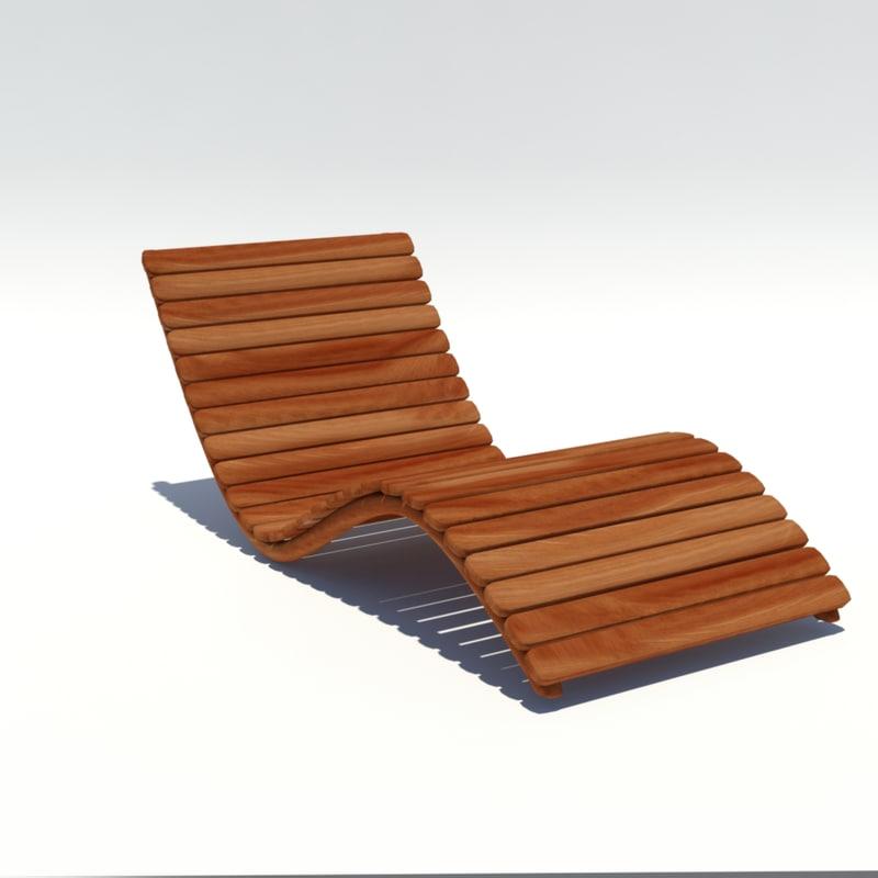 3D chaise longue model