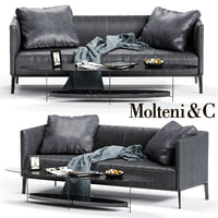 molteni c camden backrest 3D