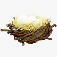 3D nest eggs model