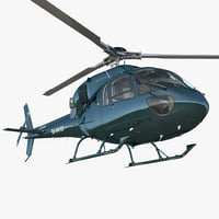 Helicopter Eurocopter AS 355N 3D Model