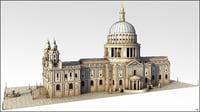 3D model cathedral london