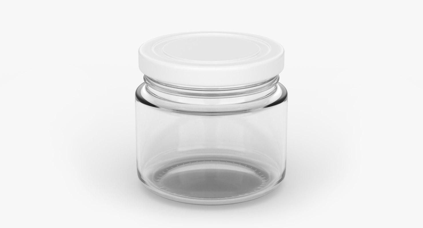 glass jar 200ml 3D model