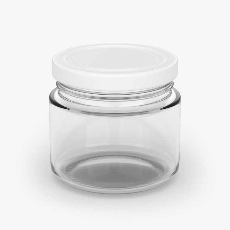 glass jar 200ml 3D model