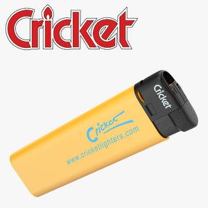 3D cricket lighter model
