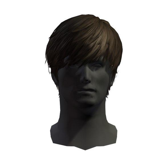 3D hair man