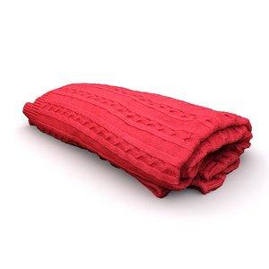 3D red blanket