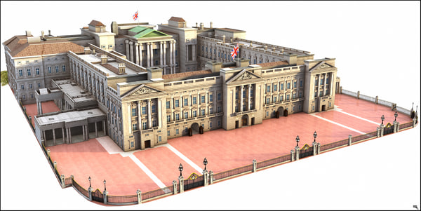 3D buckingham london palace model