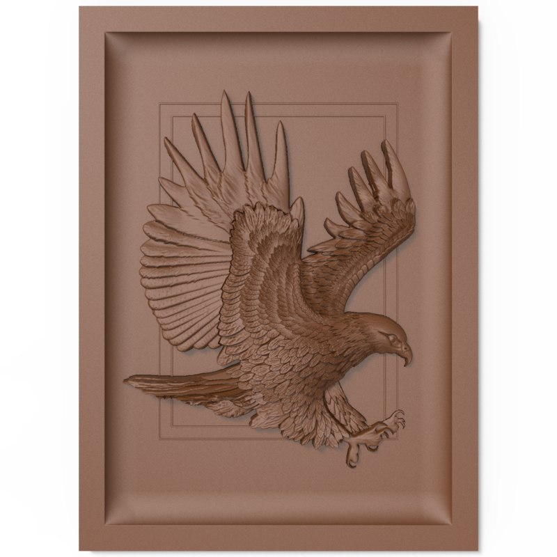 bas relief eagle cnc model