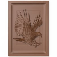 Eagle bas relief for CNC