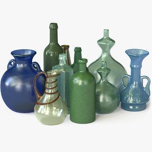 vintage bottle 3D model