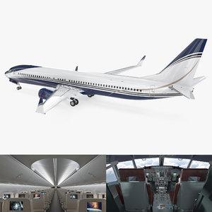 3D boeing 737-900 interior generic