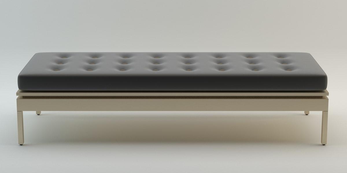 rectangular stool 3D model