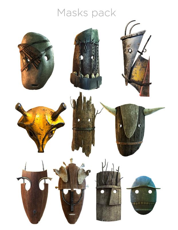 3D masks pack model