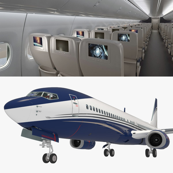 boeing 737-900 interior generic 3D model