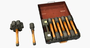 set m24 stick grenades 3D