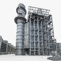 gas turbine plant 3D model