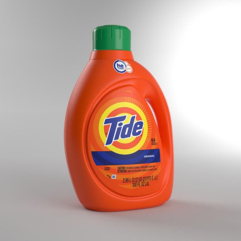 tide detergent bottle model