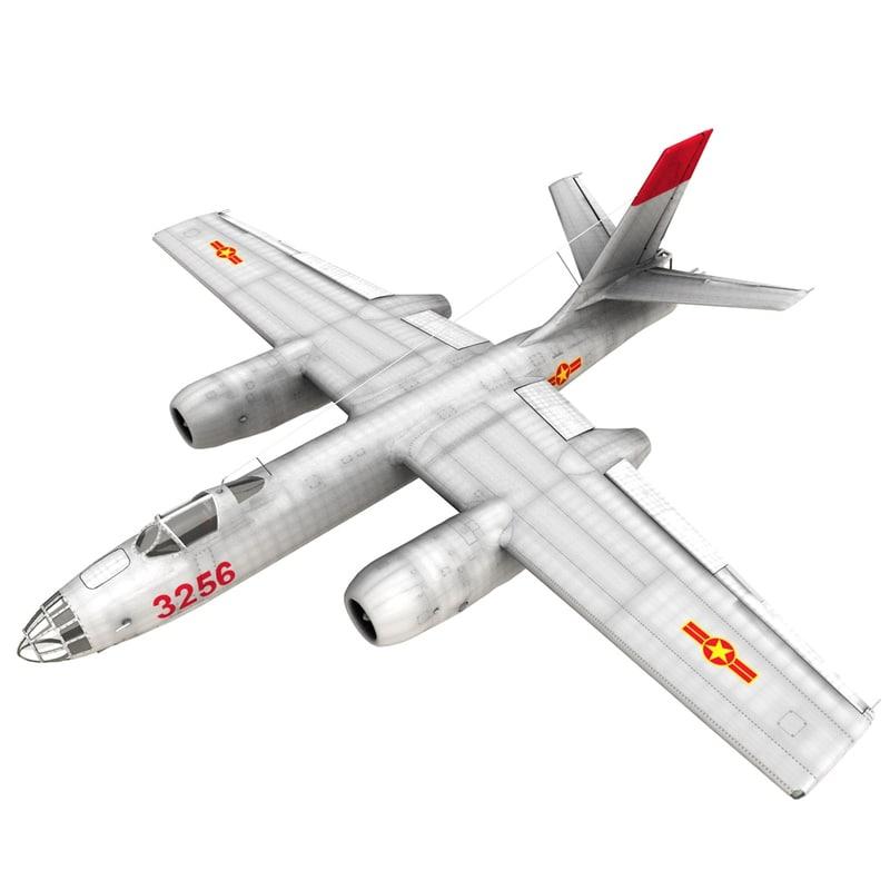 3D model ilyushin il-28 beagle bomber