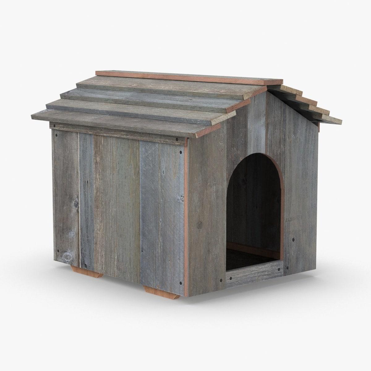 3D dog-house-02 model