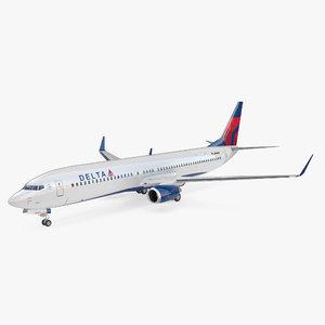 3D boeing 737-900 interior delta model