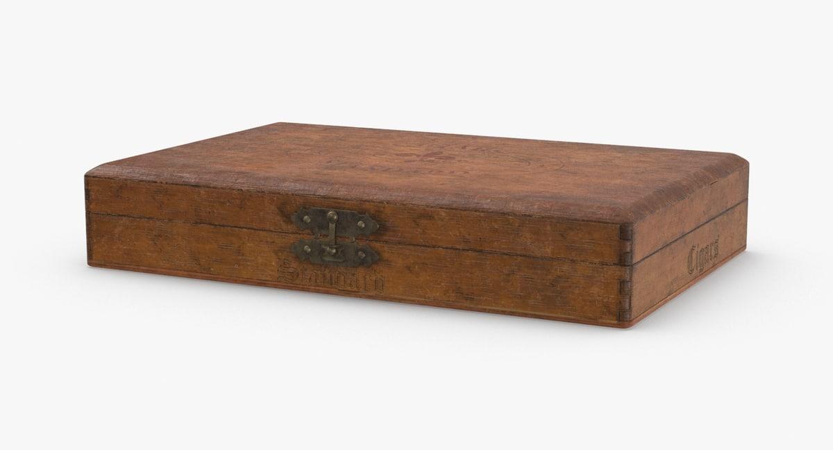 Vintage Wooden Cigar Box Closed