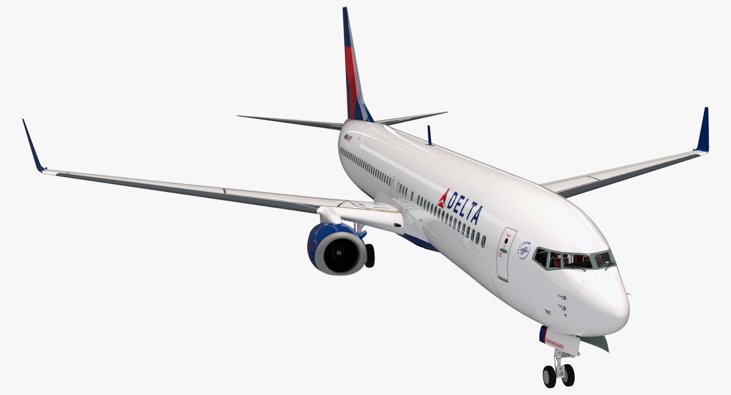 Boeing 737-900 with Interior Delta Air Lines 3D Model