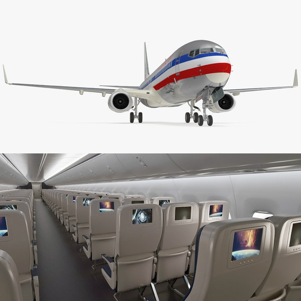 boeing 737-900 interior american airlines 3D model