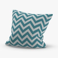 Throw Pillow 02 Blue Striped