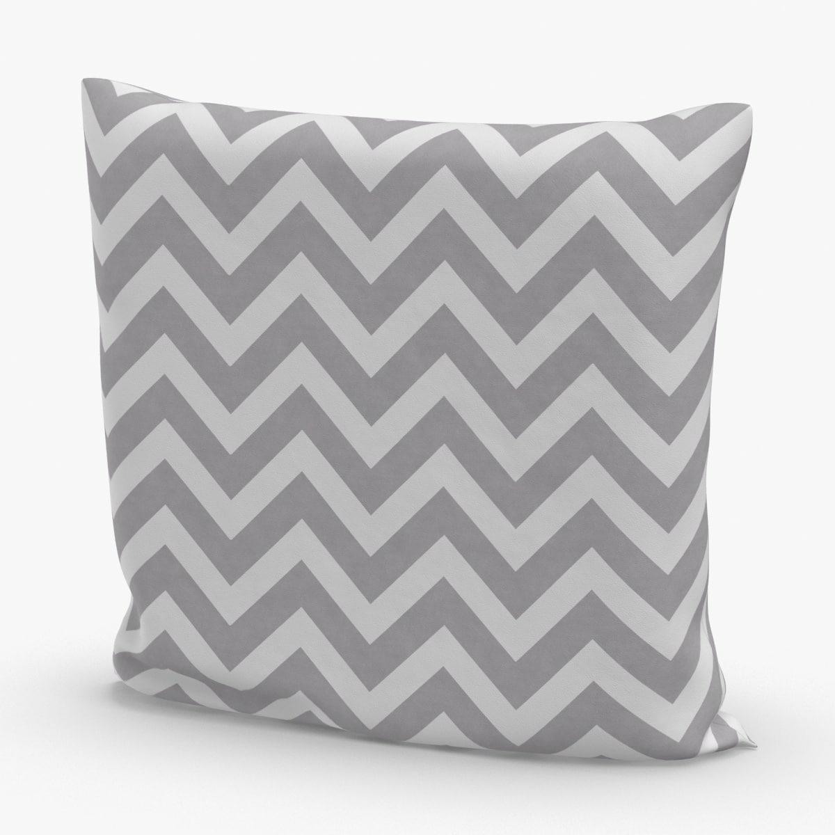 throw-pillow-02---gray-striped 3D