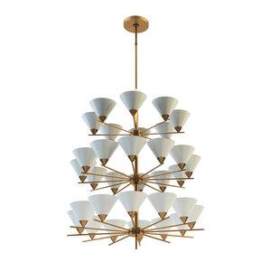 cleo three-tier chandelier 3D model