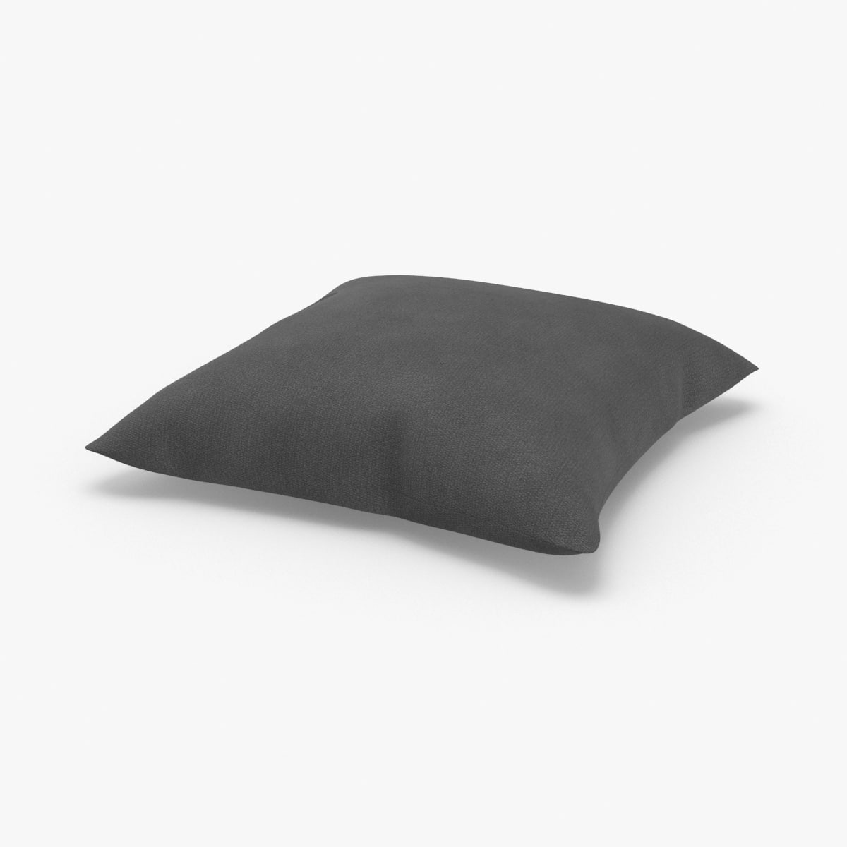 3D model throw-pillow-02---solid-gray