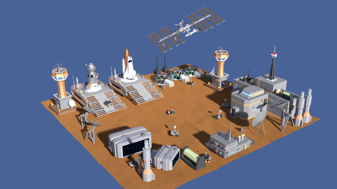 space colony 3D