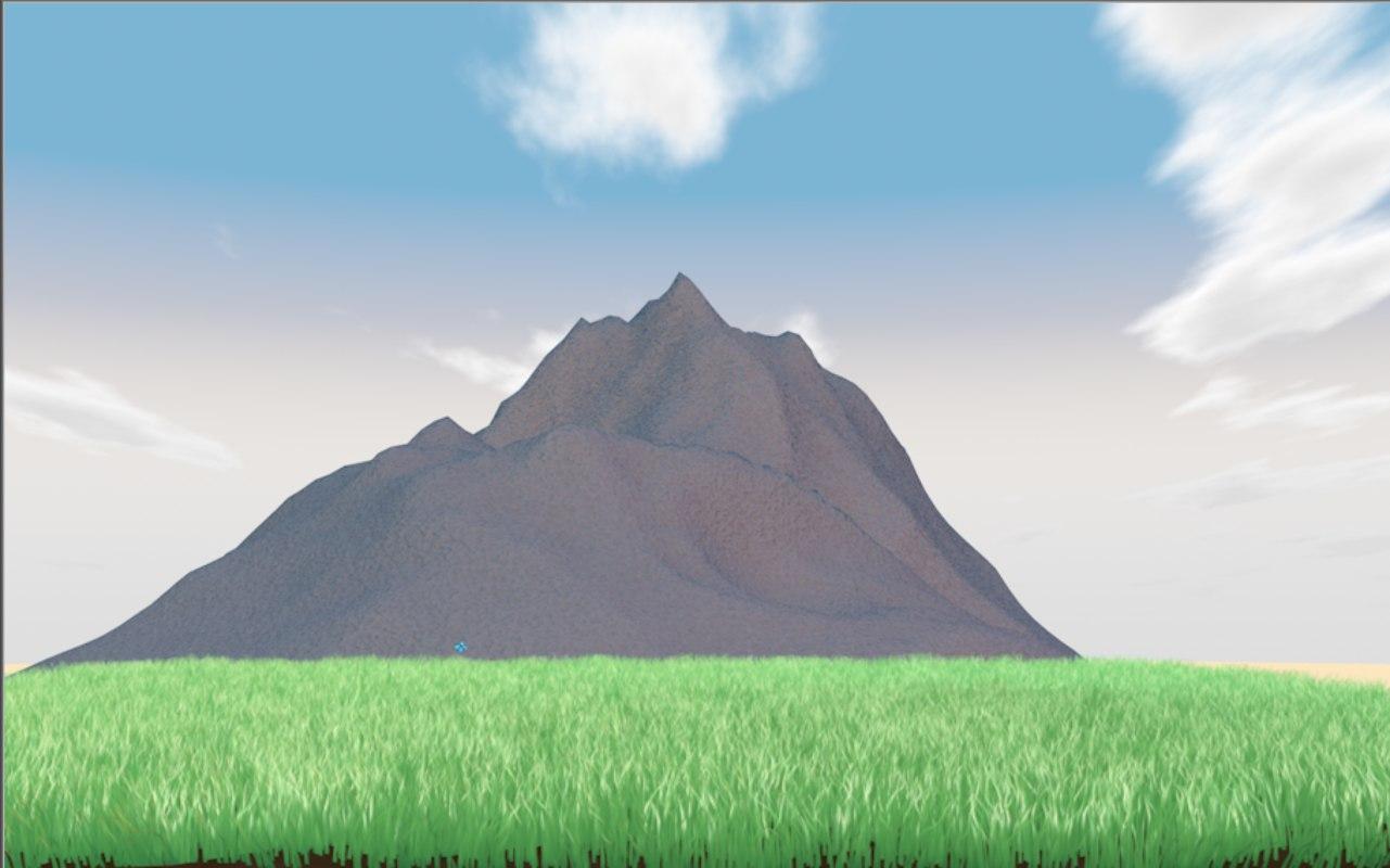 mountain grass butterfly model